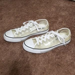 Clear See Through Converse Low Top Shoes